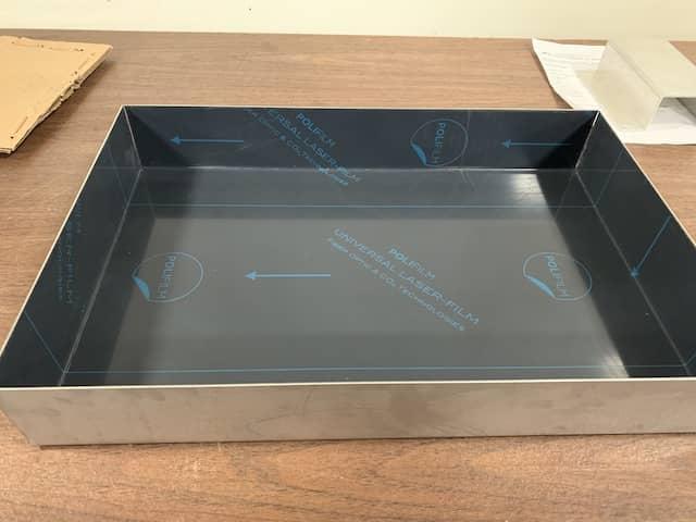 Custom made metal tray