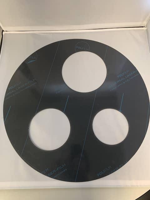 Custom Laser Cut Circle with Cutouts
