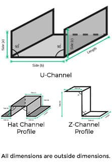 U Channel metalscut Demo Image