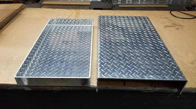Aluminum Diamond Plate Sheet Metal Custom shape U-Channel